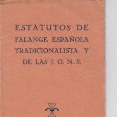 Libros antiguos: FALANGE. ESTATUTOS 1937 . 24 PAGINAS.. Lote 198425303