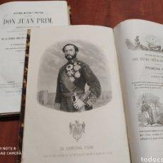 Libros antiguos: HISTORIA MILITAR Y POLÍTICA DEL GENERAL D.JUAN PRIM ,HABANA 1860. Lote 199709288