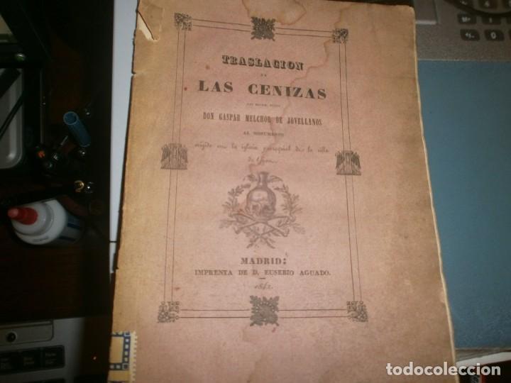 Libros antiguos: Traslación de las Cenizas del Excmo. Sr. Don Gaspar Melchor de Jovellanos al monumento Gijón 1842 - Foto 3 - 201687528
