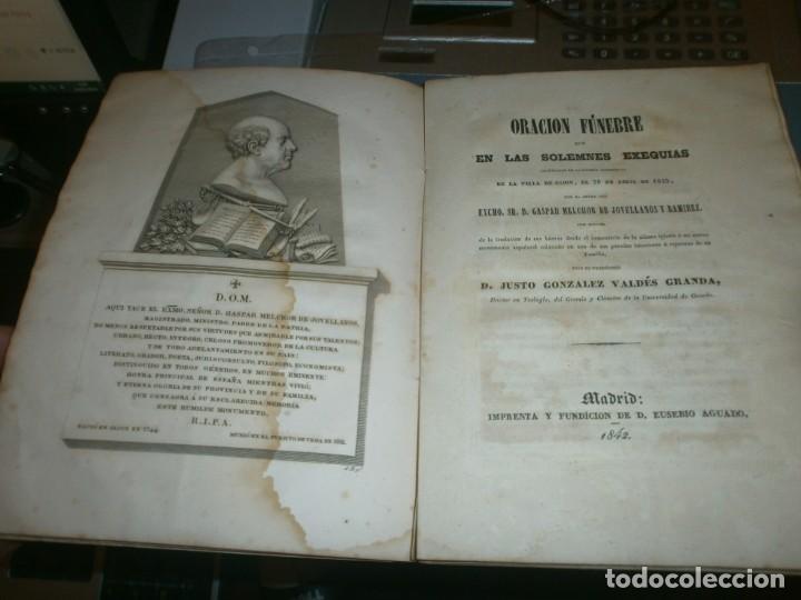 Libros antiguos: Traslación de las Cenizas del Excmo. Sr. Don Gaspar Melchor de Jovellanos al monumento Gijón 1842 - Foto 6 - 201687528