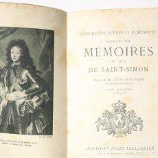 Libros antiguos: MEMOIRES DU DUC DE SAINT- SIMON TOME 3 - DUC DE SAINT- SIMON. Lote 202690015