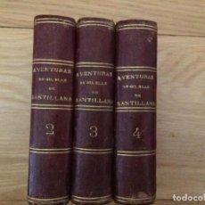 Libros antiguos: 1840. LAS AVENTURAS DE GIL BLAS DE SANTILLANA. TRES TOMOS SUELTOS. Lote 204394347