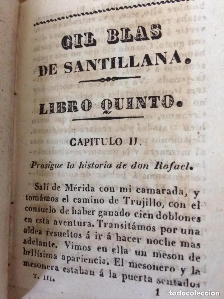 Libros antiguos: 1840. LAS AVENTURAS DE GIL BLAS DE SANTILLANA. TRES TOMOS SUELTOS - Foto 7 - 204394347