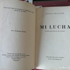 Libros antiguos: MI LUCHA DE ADOLF HITLER EN CASTELLANO 1935- PRIMERA EDICIÓN. TAPAS DURAS DE ÈPOCA. Lote 204828395