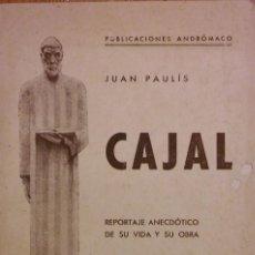 Libros antiguos: CAJAL, JUAN PAULÍS, LABORATORIOS ANDRÓMACA. BARCELONA, 1935. Lote 205136301
