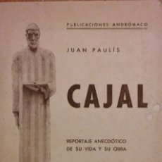 Livres anciens: CAJAL, JUAN PAULÍS, LABORATORIOS ANDRÓMACA. BARCELONA, 1935. Lote 205136301