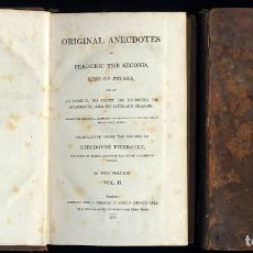 Libros antiguos: ORIGINAL ANECDOTES OF FREDERIC THE SECOND KING OF PRUSSIA AND OF HIS FAMILY, HIS COURT, MINISTERS. Lote 207685683
