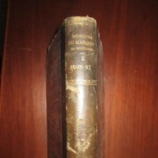Libros antiguos: MEMOIRES DE MARQUIS DE SOURCHES -COSNAC - E.PONTAL 1885 PARIS TOMO V EX LIBRIS CANOVAS DEL CASTILLO. Lote 208005368
