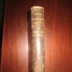 Libros antiguos: MEMOIRES DE MARQUIS DE SOURCHES -COSNAC - E.PONTAL 1886 PARIS TOMOVI EX-LIBRIS CANOVAS DEL CASTILLO. Lote 208005841