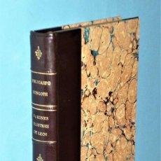 Libros antiguos: VARONES ILUSTRES DE LA PROVINCIA DE LEÓN (ENSAYO BIOGRÁFICO).. Lote 208027977