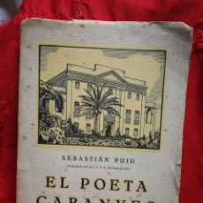 Libros antiguos: EL POETA CABANYES- SEBASTIÁN PUIG, IMPRESOR OLIVA DE VILANOVA, 1927.(VILANOVA I LA GELTRÚ).. Lote 208040997