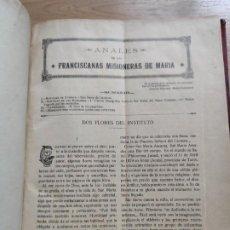 Libros antiguos: LIBRO 1916 ANALES DE LOS FRANCISCANOS MISIONEROD DE MARIA, HECHO EN PAMPLONA, MISIONES EN ÁFRICA ETC. Lote 209172167