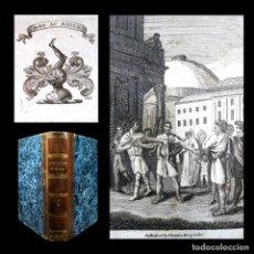 Libros antiguos: AÑO 1811 ARTAJERJES CICERÓN PERSIA ANTIGUA GRECIA Y ROMA VIDAS PARALELAS PLUTARCO GRABADO EX-LIBRIS. Lote 106970351