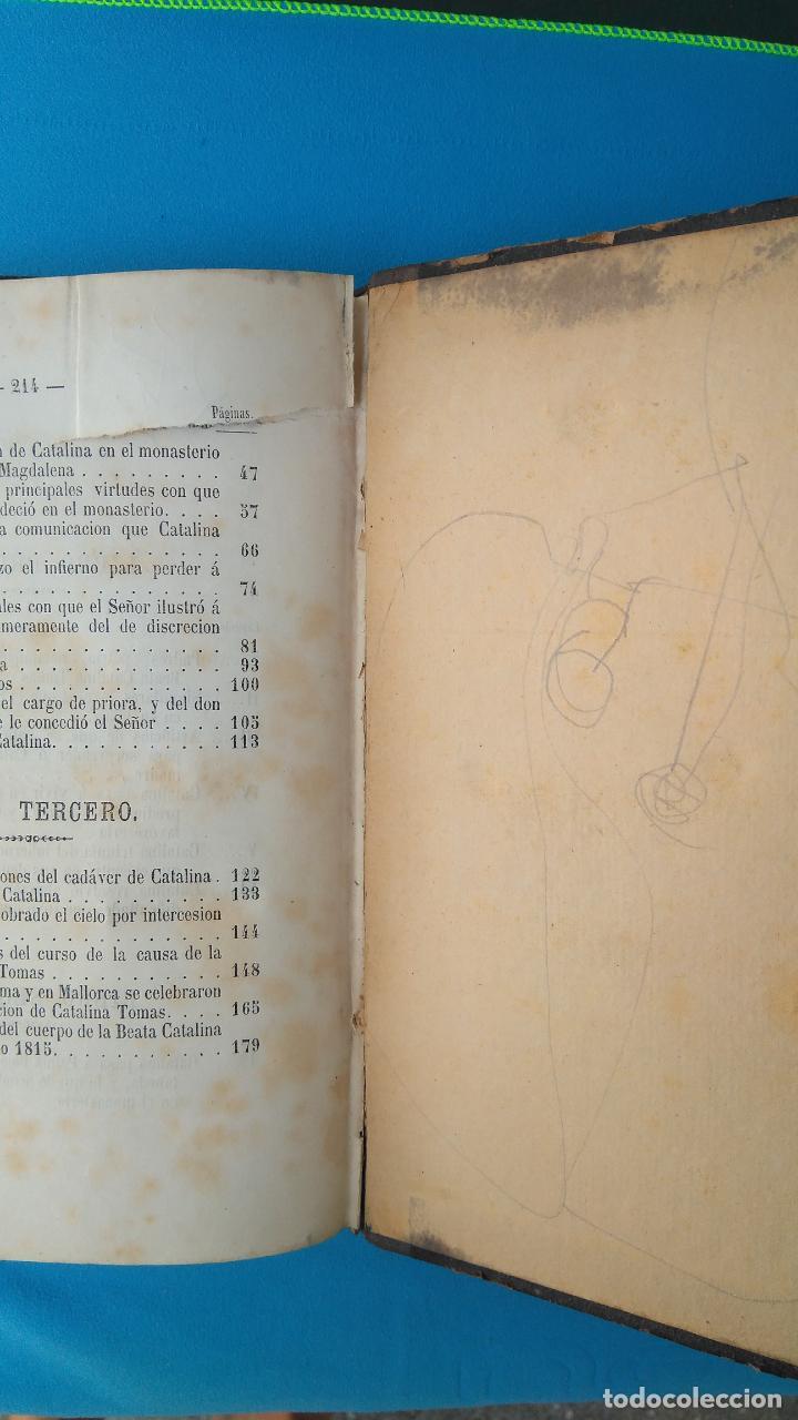 Libros antiguos: Vida de la beata Catalina Tomás - Antonio Despuig Y Dameto - Palma 1864 - Foto 2 - 209685295