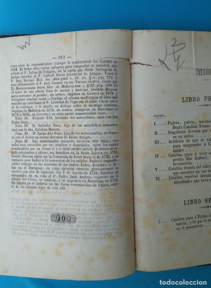 Libros antiguos: Vida de la beata Catalina Tomás - Antonio Despuig Y Dameto - Palma 1864 - Foto 3 - 209685295