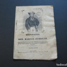 Libros antiguos: BIOGRAFIA DE DON MARTIN ZURBANO-GUERRILLERO-LIBRO ANTIGUO-3ª EDICION 1847-MADRID-VER FOTOS(V-21.109). Lote 210340832