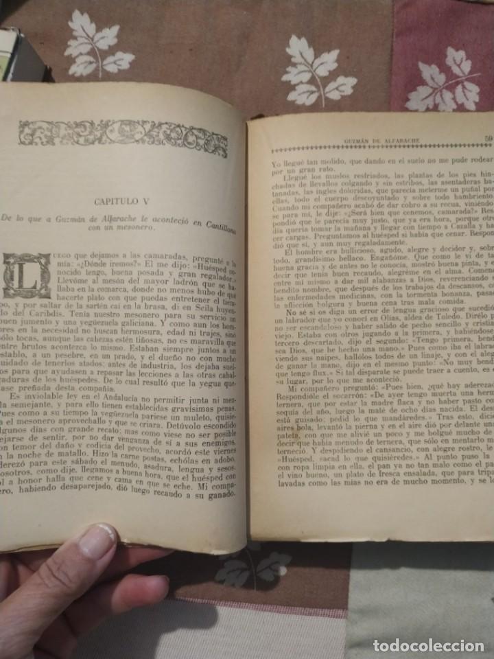 Libros antiguos: MATEO ALEMÁN. GUZMÁN DE ALFARACHE. COLECCIÓN AUTORES REGOCIJADOS. AGUILAR 1929. - Foto 2 - 210710234