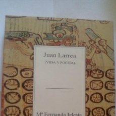 "Libros antiguos: ""JUAN LARREA"", Mª FERNANDA IGLESIA. EDIT.: BIZKAIKO GAIAK TEMAS VIZCAÍNOS, VOL.: 268.. Lote 211403109"