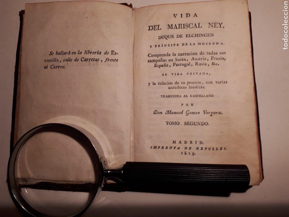 Libros antiguos: LA VIDA DEL MARICAL NEY, DUQUE DE ELCHINGEN. TRADUCIDO POR MANUEL GÓMEZ VERGARA. - Foto 4 - 212232786