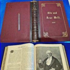 Libros antiguos: AÑO 1899. ENORME LIBRO DEL SIGLO XIX. ILUSTRADO. 38 CM. ELEGANTE ENCUADERNACIÓN.. Lote 212935313
