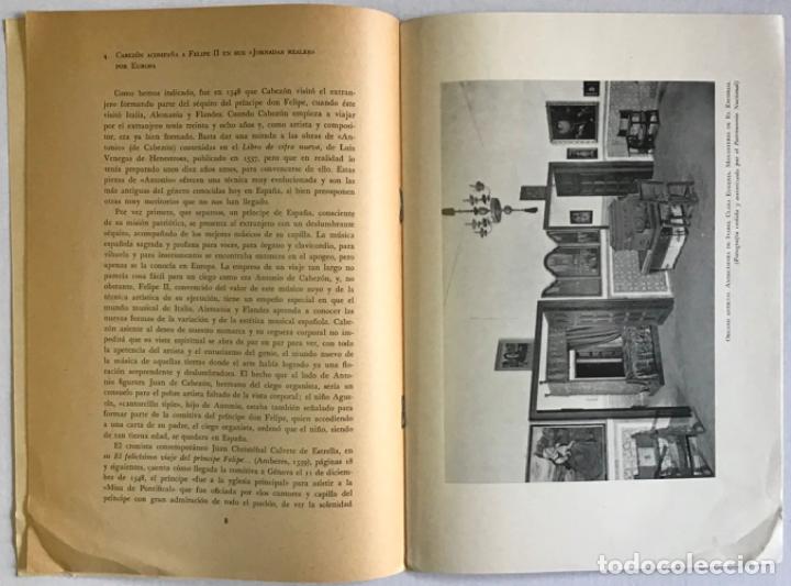 Libros antiguos: ANTONIO DE CABEZÓN, ORGANISTA DE CARLOS V Y DE FELIPE II (En el cuarto centenario de su muerte: 1510 - Foto 2 - 123157086