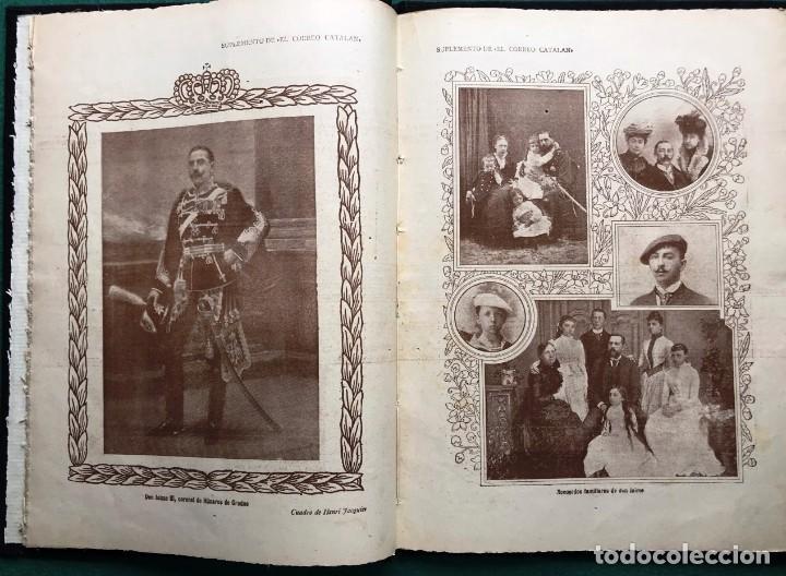 Libros antiguos: El Correo Catalán. Suplemento. 1913, Dedicado a D. Jaime III de Borbón, Carlista - Foto 2 - 213406363