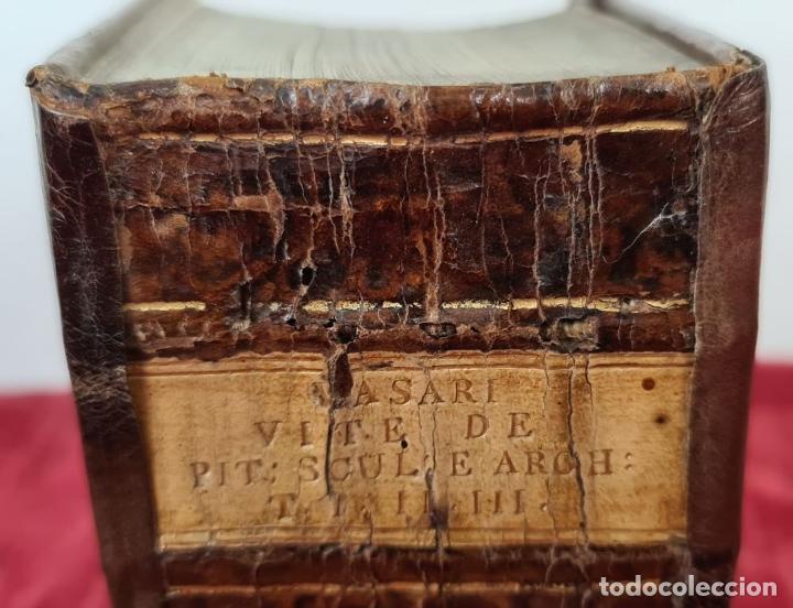 Libros antiguos: VITE DE PIU ECCELENTI PITTORI, SCULTORI, ET ARCHITETTI. G. VASARI. 3 VOL. 1791. - Foto 5 - 213535411