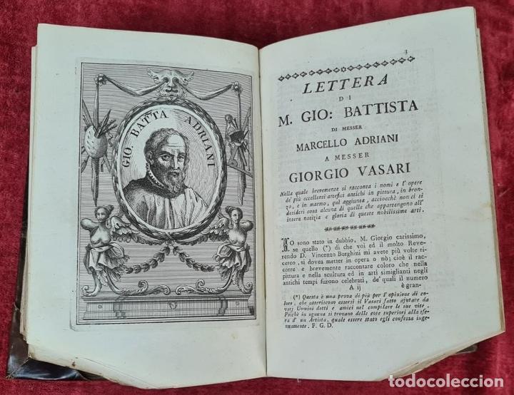 Libros antiguos: VITE DE PIU ECCELENTI PITTORI, SCULTORI, ET ARCHITETTI. G. VASARI. 3 VOL. 1791. - Foto 11 - 213535411