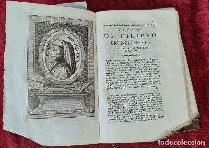 Libros antiguos: VITE DE PIU ECCELENTI PITTORI, SCULTORI, ET ARCHITETTI. G. VASARI. 3 VOL. 1791. - Foto 14 - 213535411