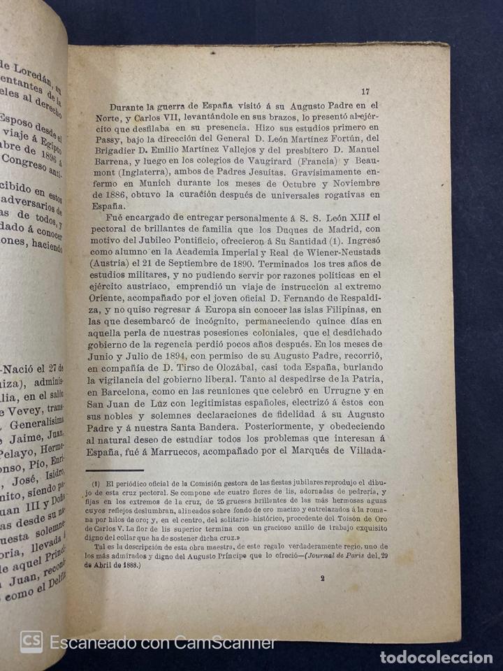 Libros antiguos: DON CARLOS. SU PASADO PRESENTE Y PORVENIR. D.MANUEL POLO PEYROLON. 1900. BOSQUEJO CRITICO BIOGRAFICO - Foto 3 - 213698867