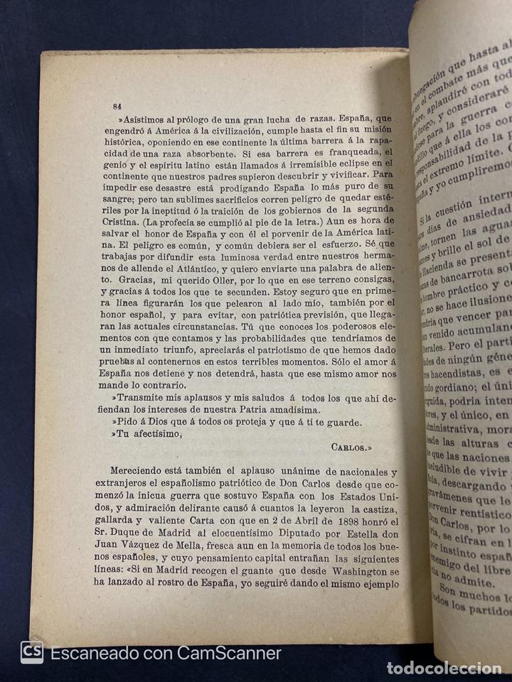 Libros antiguos: DON CARLOS. SU PASADO PRESENTE Y PORVENIR. D.MANUEL POLO PEYROLON. 1900. BOSQUEJO CRITICO BIOGRAFICO - Foto 4 - 213698867