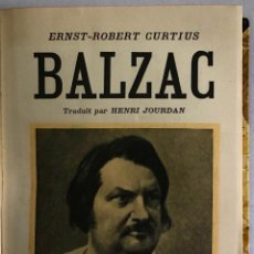 Livres anciens: BALZAC. - ROBERT CURTIUS, ERNST.. Lote 123238124
