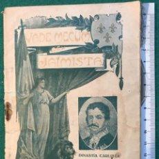 Libros antiguos: VADEMECUM JAIMISTA. VIII, AGOSTO 1912. CARLISTA. Lote 215761051