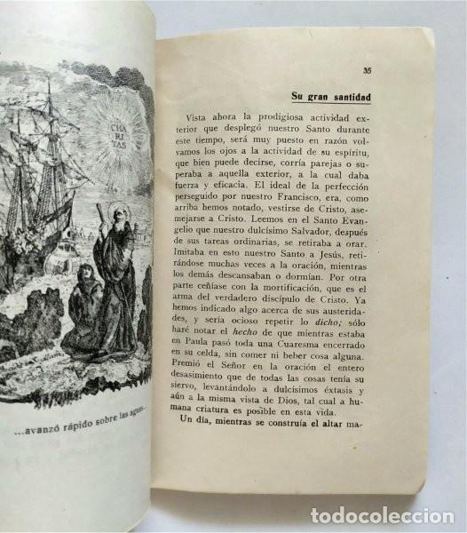 Libros antiguos: Vida de San Francisco de Paula. Fundador Orden de los Mínimos. Fr. Salvador de Mª Pomé. 1929 - Foto 5 - 219703142