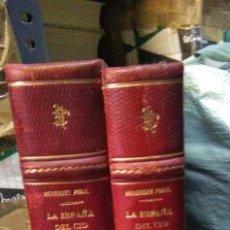 Livros antigos: RAMÓN MENÉNDEZ PIDAL.LA ESPAÑA DEL.CID.(2 TOMOS).1929.EDITORIAL PLUTARCO. Lote 234816585