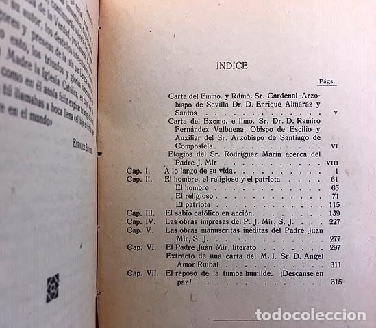 Libros antiguos: Un gran español desconocido… Padre Juan Mir y Noguera, S.J. (1840-1917) Bayerri Bertomeu - Foto 3 - 221458537