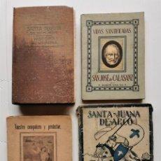 Libros antiguos: LOTE LIBROS - EL SANTO ÁNGEL DE LA GUARDA - SANTA TERESITA - SAN JOSÉ DE CALASANZ - JUANA DE ARCO. Lote 221909688