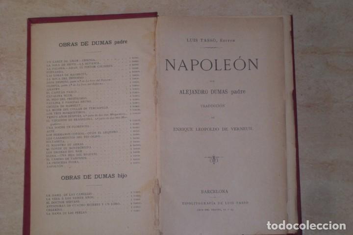 Libros antiguos: BIOGRAFIA DE NAPOLEON BONAPARTE, FINALES SIGLO XIX - Foto 2 - 222119582