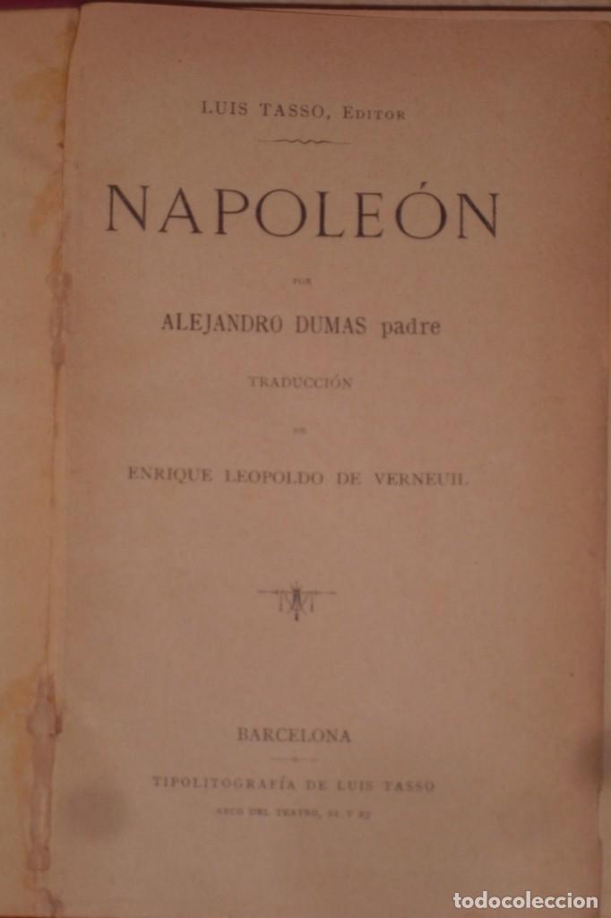 Libros antiguos: BIOGRAFIA DE NAPOLEON BONAPARTE, FINALES SIGLO XIX - Foto 4 - 222119582