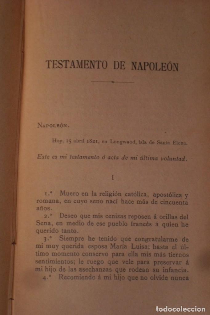 Libros antiguos: BIOGRAFIA DE NAPOLEON BONAPARTE, FINALES SIGLO XIX - Foto 6 - 222119582