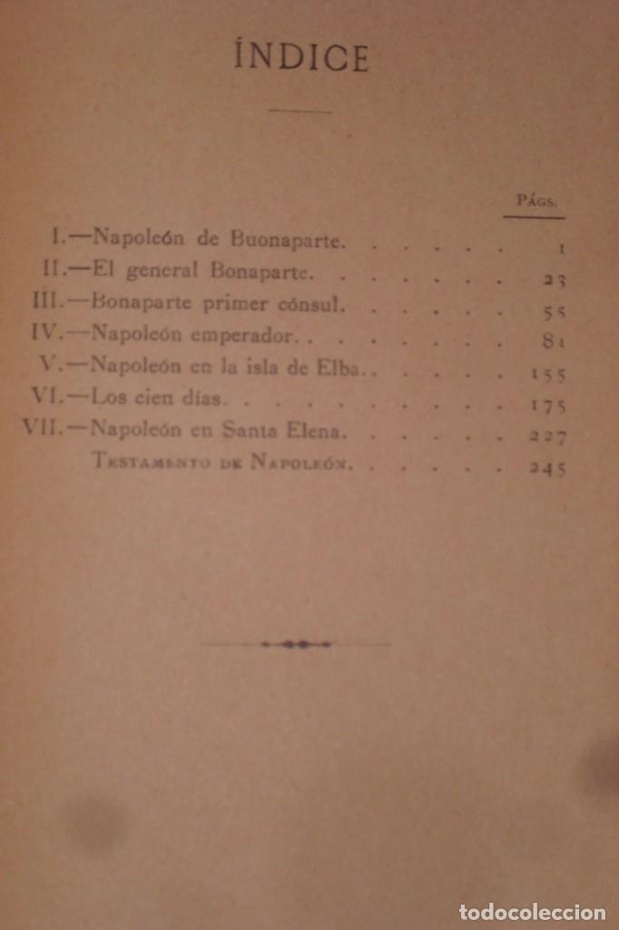 Libros antiguos: BIOGRAFIA DE NAPOLEON BONAPARTE, FINALES SIGLO XIX - Foto 7 - 222119582