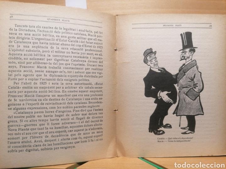 Libros antiguos: Francesc Macià. La nostra gent. Quaderns blaus. Llibr. Catalònia. Barcelona, ca. 1933. - Foto 3 - 222469996