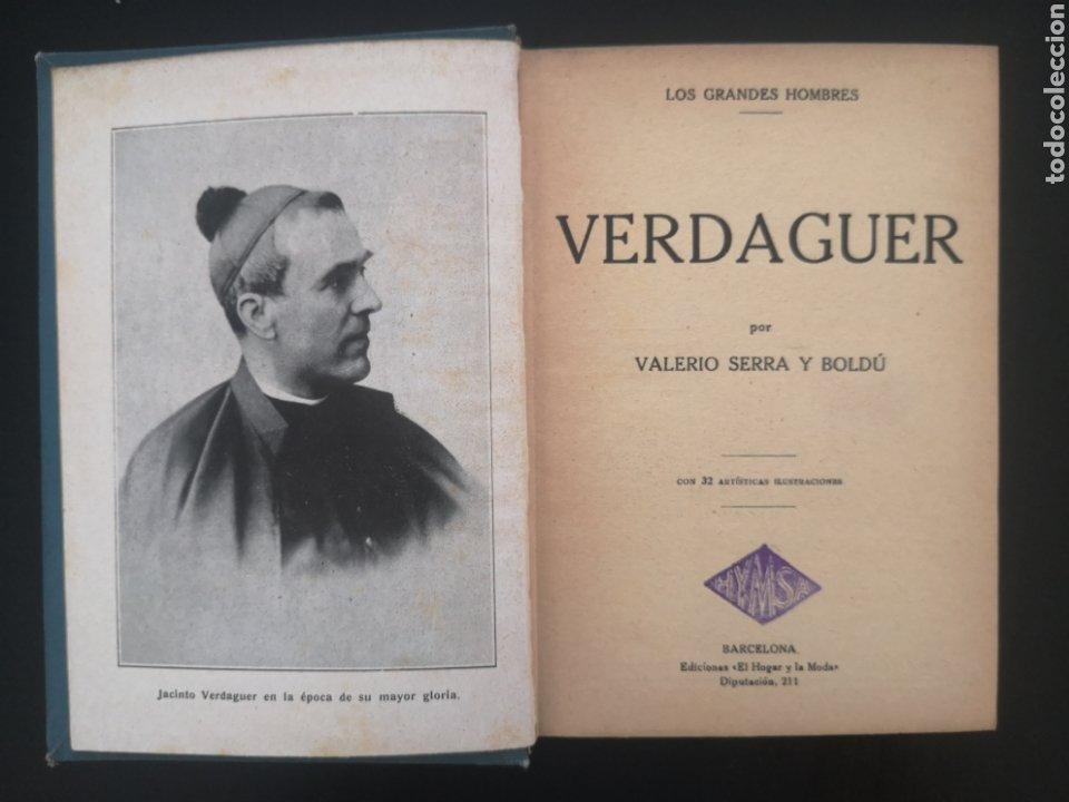 LOS GRANDES HOMBRES. VERDAGUER. VALERIO SERRA Y BOLDÚ. HYMSA, 1932. 3000 EJEMPLARES. (Libros Antiguos, Raros y Curiosos - Biografías )