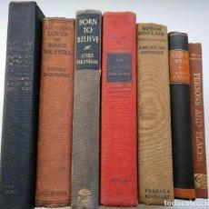 Libros antiguos: LOTE DE 7 LIBROS BIOGRÁFICOS ANTIGUOS. Lote 224623702