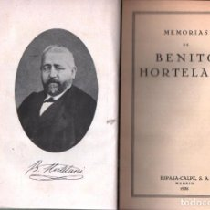 Libros antiguos: MEMORIAS DE BENITO HORTELANO (ESPASA CALPE, 1936). Lote 227735190