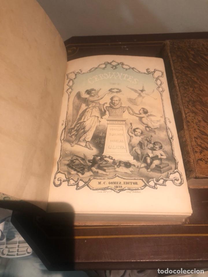 Libros antiguos: Tomo 1 y 2 de la novela de Cervantes 1859 - Foto 5 - 227942095