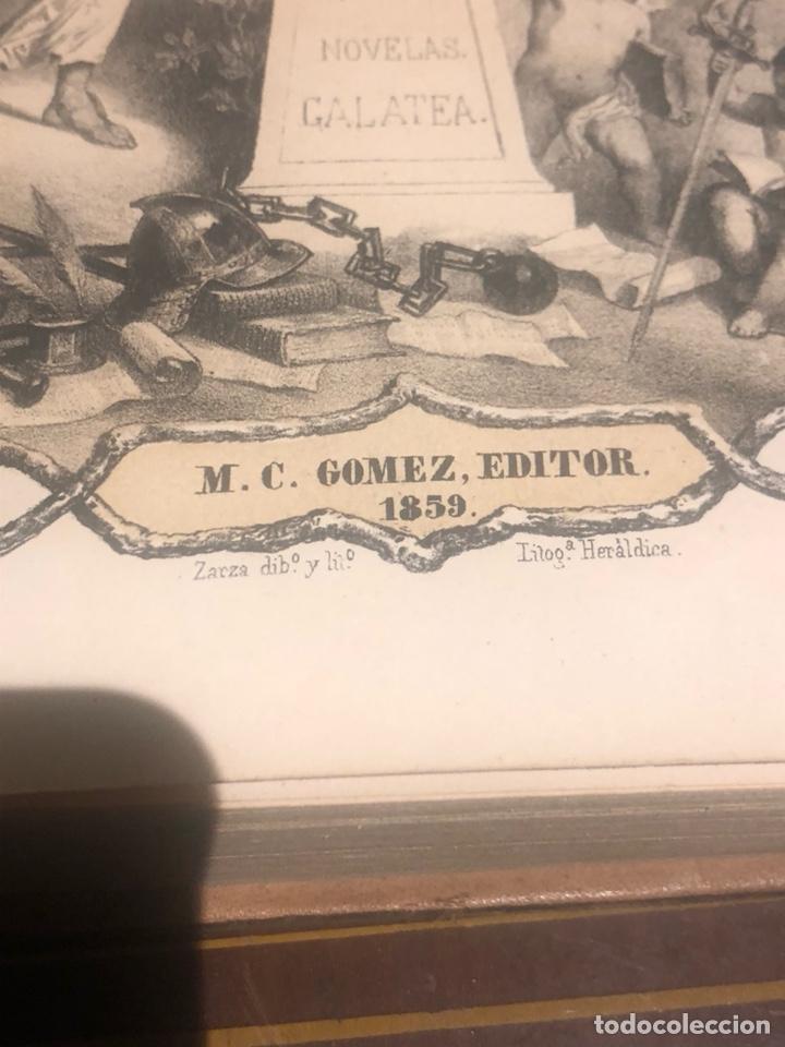 Libros antiguos: Tomo 1 y 2 de la novela de Cervantes 1859 - Foto 6 - 227942095