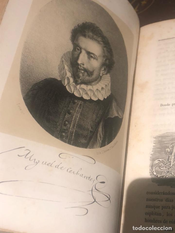 Libros antiguos: Tomo 1 y 2 de la novela de Cervantes 1859 - Foto 7 - 227942095