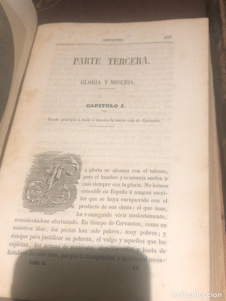 Libros antiguos: Tomo 1 y 2 de la novela de Cervantes 1859 - Foto 8 - 227942095
