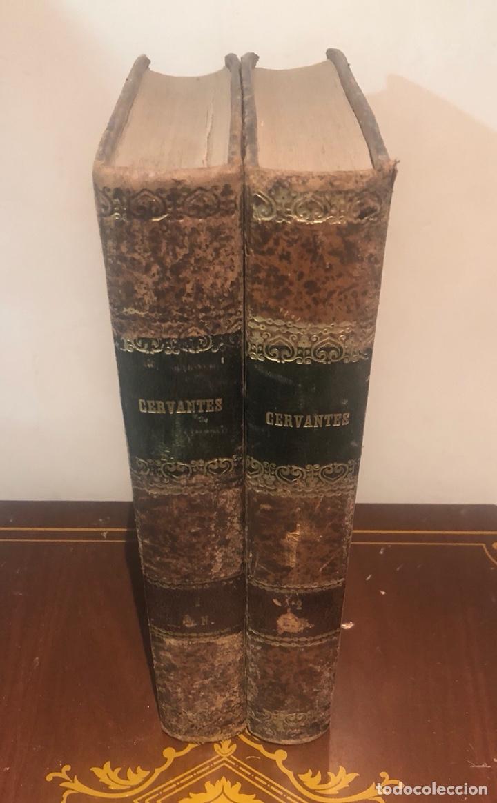TOMO 1 Y 2 DE LA NOVELA DE CERVANTES 1859 (Libros Antiguos, Raros y Curiosos - Biografías )